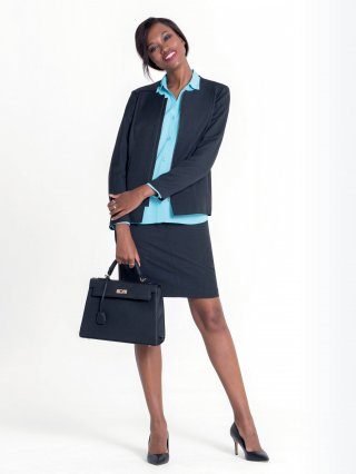 Mix and match garments in your choice of colours. Use this as a guide to create your own workday capsule wardrobe.