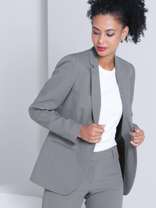 Classic Blazer, Long Sleeve Fully Lined Jacket