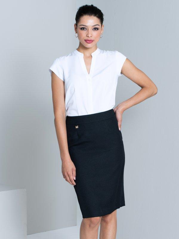 Pencil skirt ,Mock welt pocket tab detail