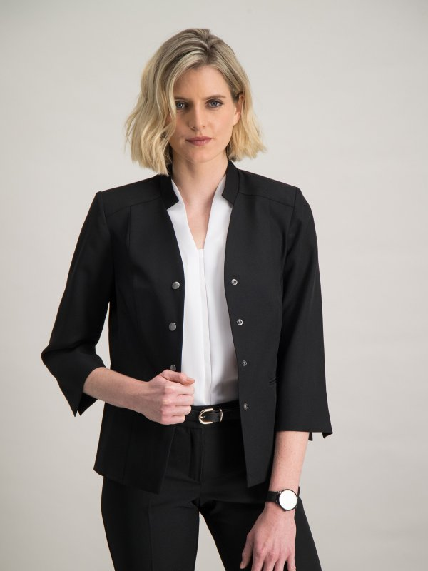 3/4 Sleeve jacket with popper fasteners