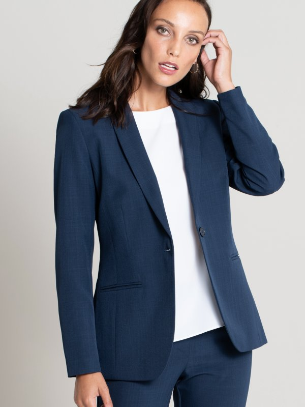 Classic Blazer, Long Sleeve Fully Lined Jacket