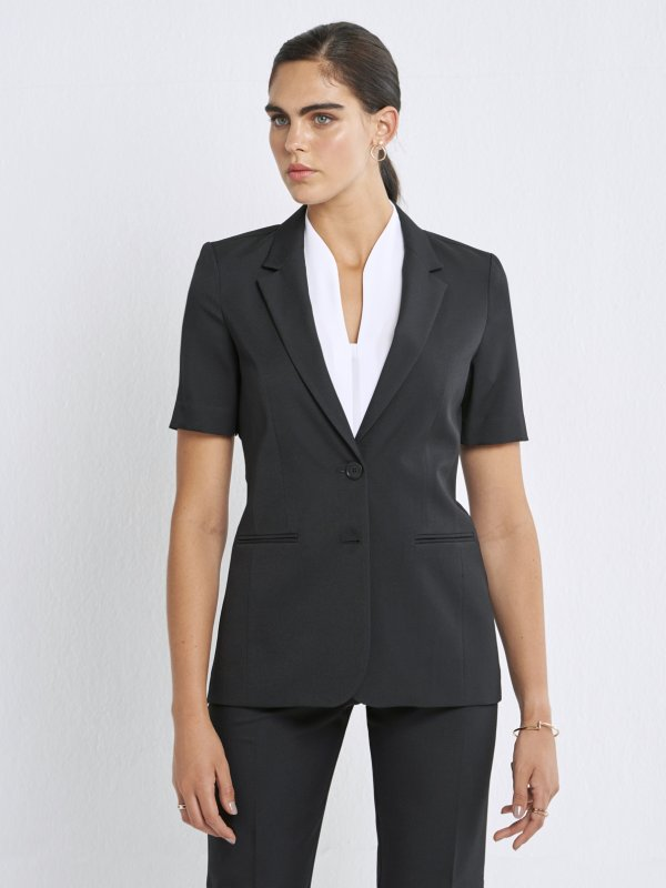 Short Sleeve Classic Jacket , front lined. Approx. 67cm from centre back.