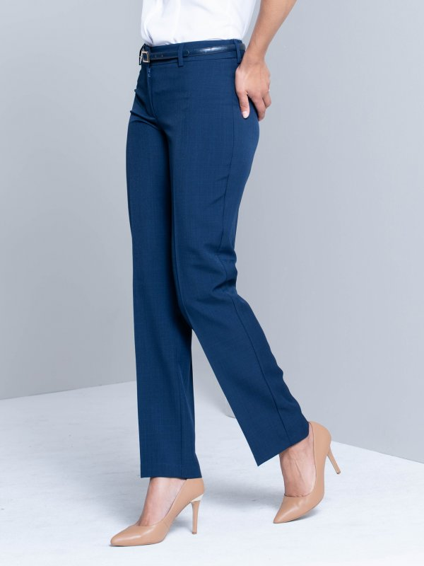Long slim legged classic pants.