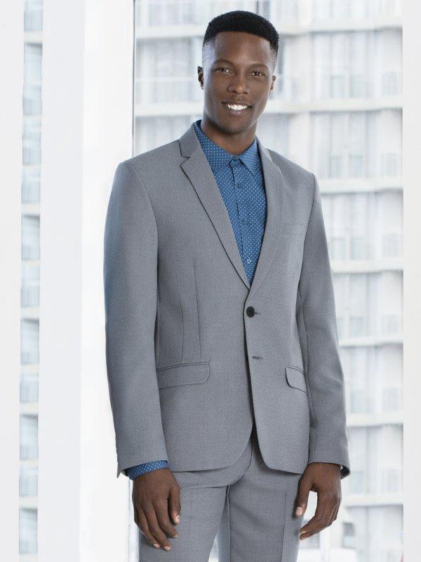 Super slim fit men's blazer with one button