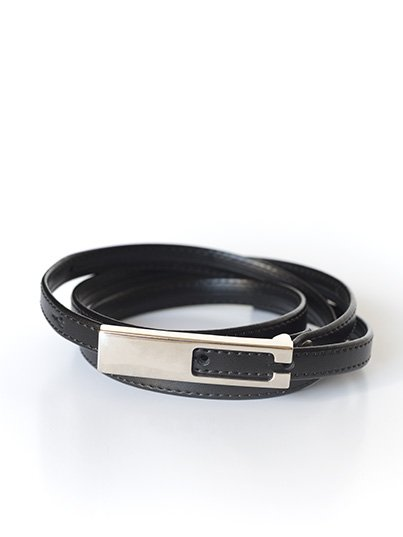 Skinny Leather Belt, crafted from smooth leather is a pulled-together addition to any outfit.  100% Leather