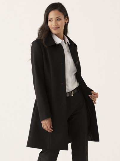 Melton to melt your heart , knee-length classic coat, a must have for winter, 92cm in length.