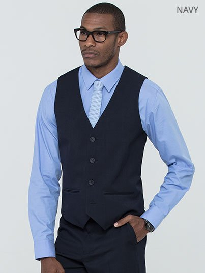 Fitted, Men's Slim fit lined waistcoat, Approx. 58cm centre back length