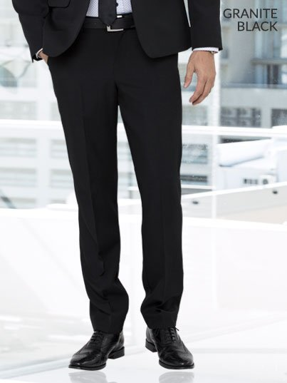 Regular Fit Men's pants with a flat front.