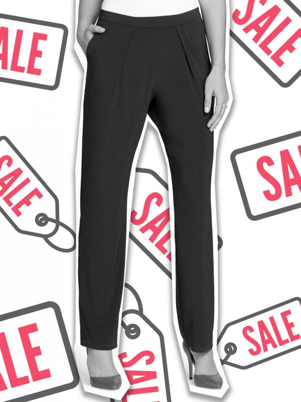 Classic Fit , 1/2 elasticated waist pants with pockets and front pleats. Approx. 80cm inside leg