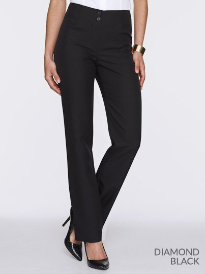 Classic Fit pants with a regular rise and a straight leg.